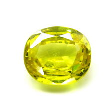 8.9Ct Synthetic Yellow Sapphire (Pukhraj) Oval Cut clear Gemstone