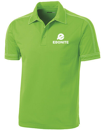Ebonite Men's Boom Performance Polo Bowling Shirt Dri-Fit Lime Green