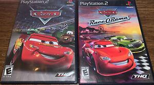 Ps2 Lot Disney Pixar Cars + Race-O-Rama PlayStation 2 PS2 Games-Tested