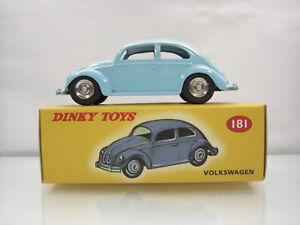 Diecast-Dinky-Toys-Atlas-Volkswagen-Beetle-No-181-Blue-Mint-in-Box