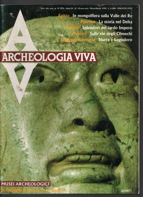 ARCHEOLOGIA VIVA N� 10 1996