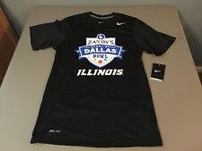 NWT Nike DRI-FIT University of Illinois ZAXBY'S Heart of Dallas Bowl Shirt XS