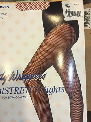 Body Wrappers C61 TAN SUNTAN TST CHILDREN Seamless Fishnet Dance Tights  S//M M//L