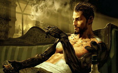 "042 Deus Ex - Action Role Playing Video Game 22""x14"" Poster"