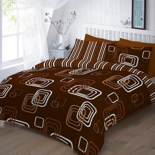 Luxury Square BLAKE Design Printed Reversible DUVET COVER SET with Pillowcases
