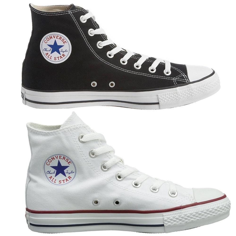 Converse Chuck Taylor Chucks All Star Hi High Sneaker schwarz weiß M9160 M7650
