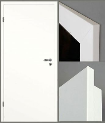 Lagerware > Wohnungseingangstür S32 KK II Weißlack CPL mit  Zarge, Designkante