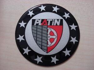PLATINO-Pegatina-para-tapa-tapacubos-Tapacubos-64mm-rojo-negro-NUEVO-ORIGINAL