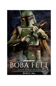 1 6 escala Boba Fett Estrella Wars El Imperio Contraataca Sideshow  21282
