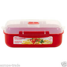 NEW! Sistema Microwave Steamer - Rectangular 1.25L
