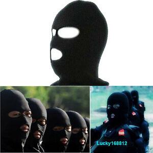 3 Hole Knitted Face Mask Balaclava Hat Ski Army Stocking Winter Cap ... e4c8146878c6