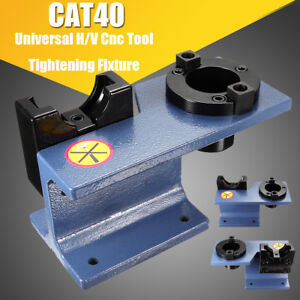 Aluminum CAT 40 Universal CNC Tighten Tool Holder Tightening Fixture Blue