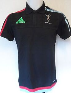 8299ecc17 HARLEQUINS RUGBY 2015 16 BLACK MEDIA POLO BY ADIDAS SIZE MEN S EXTRA ...
