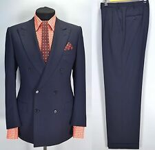 Brioni Penne Lux $6000 Navy Blue Wool Suit Blazer Pants 52IT W34 L32