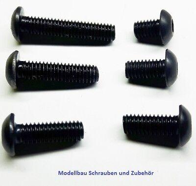 25 Stück Linsenkopfschrauben mit TORX ISO 7380 M2,5X10 V2A SCHWARZ