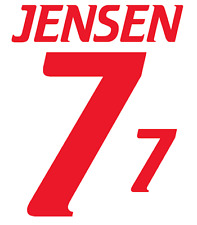 Denmark Jensen Nameset 2000 Shirt Soccer Number Letter Heat Print Football Away