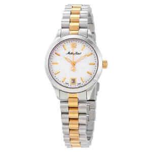 Mathey-Tissot-Urban-White-Dial-Ladies-Two-Tone-Watch-D411MBI