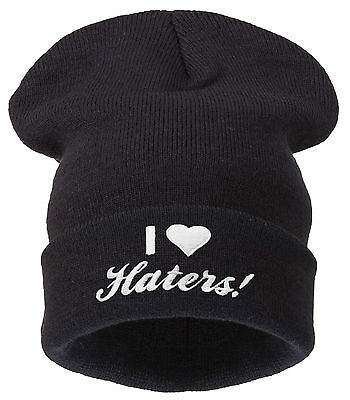 Men's Women's  BEANIE Hat DISOBEY WASTED YOUTH BLACK Yolo  Winter Bad Hair Day
