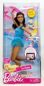 Mattel-Toys-R-Us-Barbie-I-Can-Be-Ice-Skater-African-American-Doll-No-W8626-NRFB