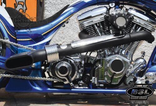 """Harley BSL """"Scale Drager"""" Auspuff  Softail z.B. Fat Boy Auspuffanlage Euro 3 Tüv"""