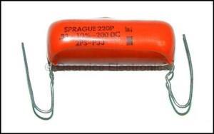 4-piezas-Sprague-2PSP33-Vintage-Orange-Drop-0-33uF-330nF-200VDC-10-nos