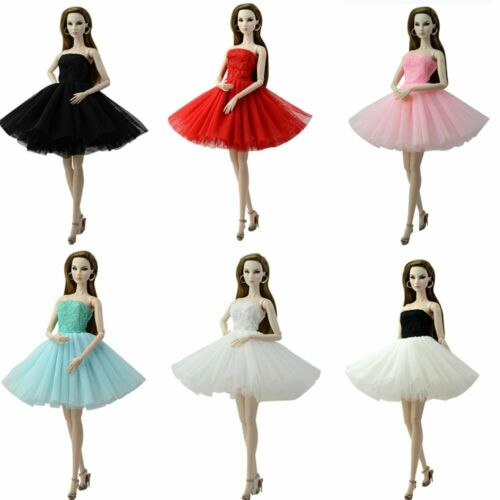 Doll Ballet Dress Gown Clothes For Barbie Princess Fashion Handmade Party Outfit