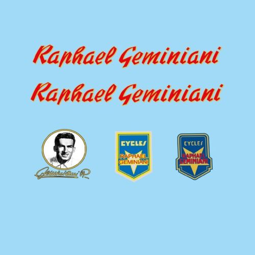 Raphael Geminiani Bicycle Decals Stickers n.11 Transfers