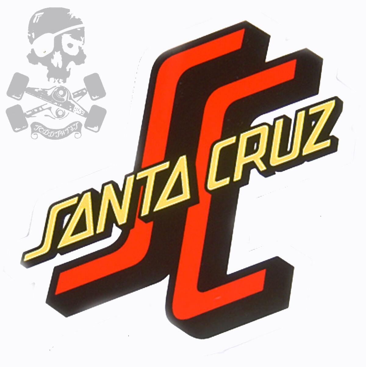 Santa 13cm Cruz SC LOGO 13cm Santa skateboard snowboard autocollant 247a3f