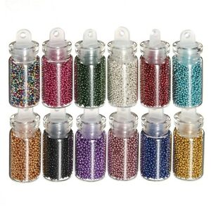 12-Mini-Caviar-Beads-Nail-Art-Bottles-False-Nail-Scrapbooking-Crafts-Nail-Tips