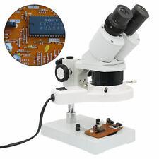 20x 40x Industrial Binocular Stereo Microscope For Mobile Phone Clock Repairing