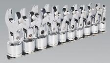 SEALEY SIEGEN 10 PIECE FLEXI HEAD CROW FOOT CROW FEET SPANNER WRENCH SET 10 19mm