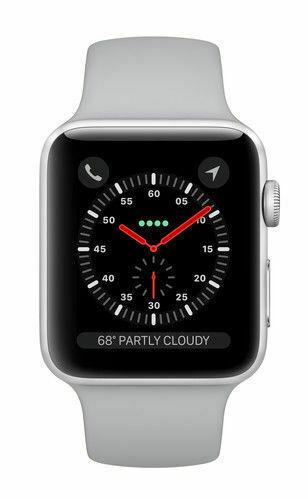 Apple Watch Series 3 42mm Silver Aluminium Case Fog Sport Band Smart Watch Mqk12ll A For Sale Online Ebay