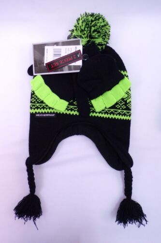 NWT YOUTH COLD WEATHER HAT /& GLOVE SET BY WEATHER PROOF JCPENNEY EXCLUSIVE