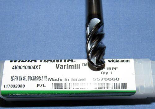 Brand new-Hanita Varimil Carbide Ball  End Mill  3//8 DIA 4 Flute 7//8 loc