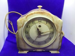 Antique vintage Smiths Marble effect Bakelite Alarm Clock