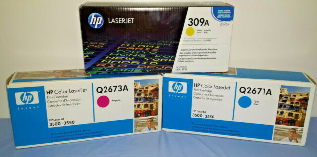 GENUINE HP Laser Jet Color Toner Yellow Magenta Cyan 309A (Q2671A Q2672A Q2673A)