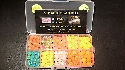 Mad River Trout//Steehead Bead UV 8mm Assortment 6 Color Bead Box