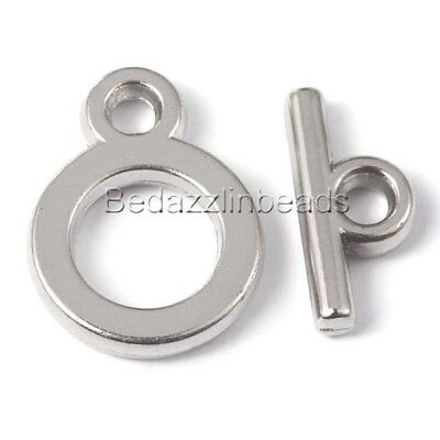 Round Toggle Clasps Antique Silver Metal Alloy 24x27mm  10 Pcs Findings Crafts