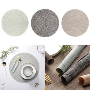 New-Round-Washable-heat-Insulation-Placemats-Pad-Kitchen-Table-Mats
