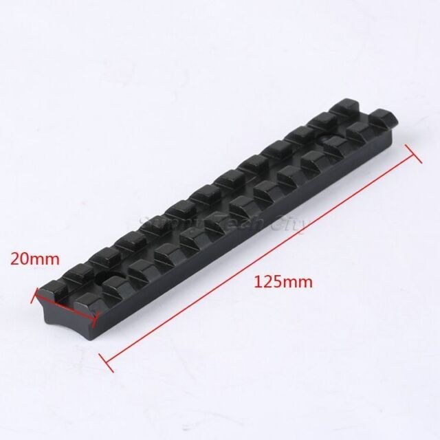 17fef3e30 Tactical 20mm Rail Extend Scope Mount Base Picatinny Weaver Dovetail for  Rifle