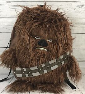 Details About Chewbacca Backpack Star Wars Book Bag Chewy Furry School Zipper