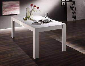 Tavolo da pranzo fisso allungabile moderno Amalfi bianco lucido sala ...