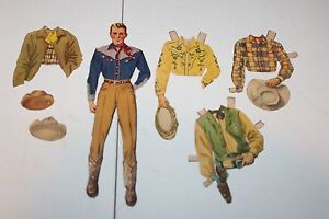VINTAGE RANCH HAND FROM GENE AUTRY's RANCH PAPER DOLL WITH CLOTHES