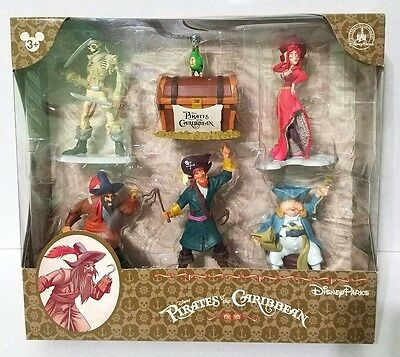 Disney Parks Pirates of the Caribbean Collectible Figures Set Cake Topper Toys