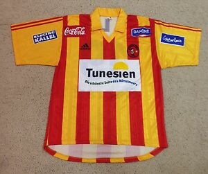 huge selection of eabe3 9aace Image is loading 2001-Adidas-Esperance-Tunisia-Africa-match-worn-v-