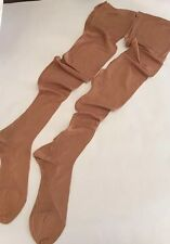 True Vintage 100% Silk Stockings Sheer Seams Cuban Heel For Garter 9 Long