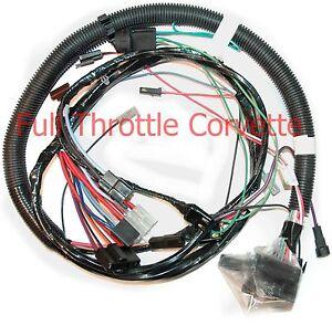 1981 corvette engine wiring harness w automatic trans ebay rh ebay com
