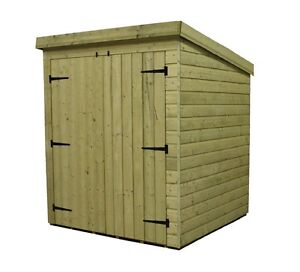 image is loading garden shed 6x4 pent shed pressure treated tongue - Garden Sheds 6x4