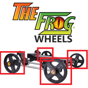 """New Replacement Wheels for /""""The Frog/"""" Functional Fitness Trainer"""