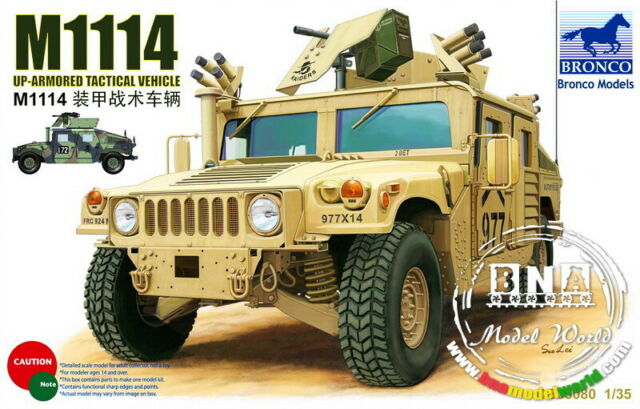 Bronco Model kit 1/35 M1114 Up-Armoured Tactical Vehicle (September) #CB35080